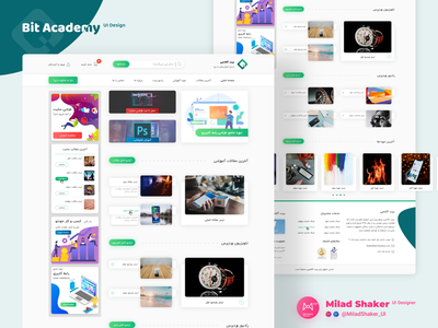 Bit Academy | Milad Shaker adobe xd adobexd xd web design website ui design uiux webdesign web uidesign ui