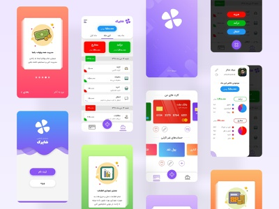 Personal Accounting | Milad Shaker application app adobe xd adobexd uiuxdesign teenagers teenager teen accounting smartphone mobile app mobile ui app design uiux uidesign ui design ui