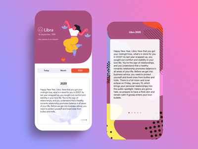 Horoscope App zodiac sign zodiac night ios app design astrology horoscope logo art app minimal illustration branding ux ui design