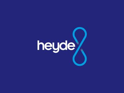 heyde logo blue white cyan mark water