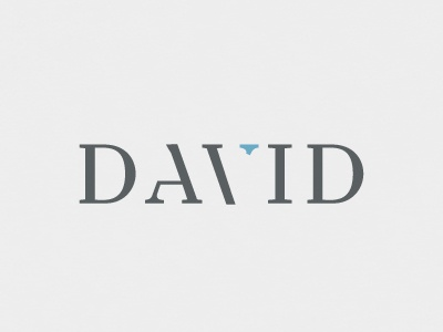 David branding logo design grey