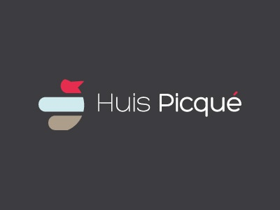 Huis Picqué - round 2 red logo branding abstract grey brown
