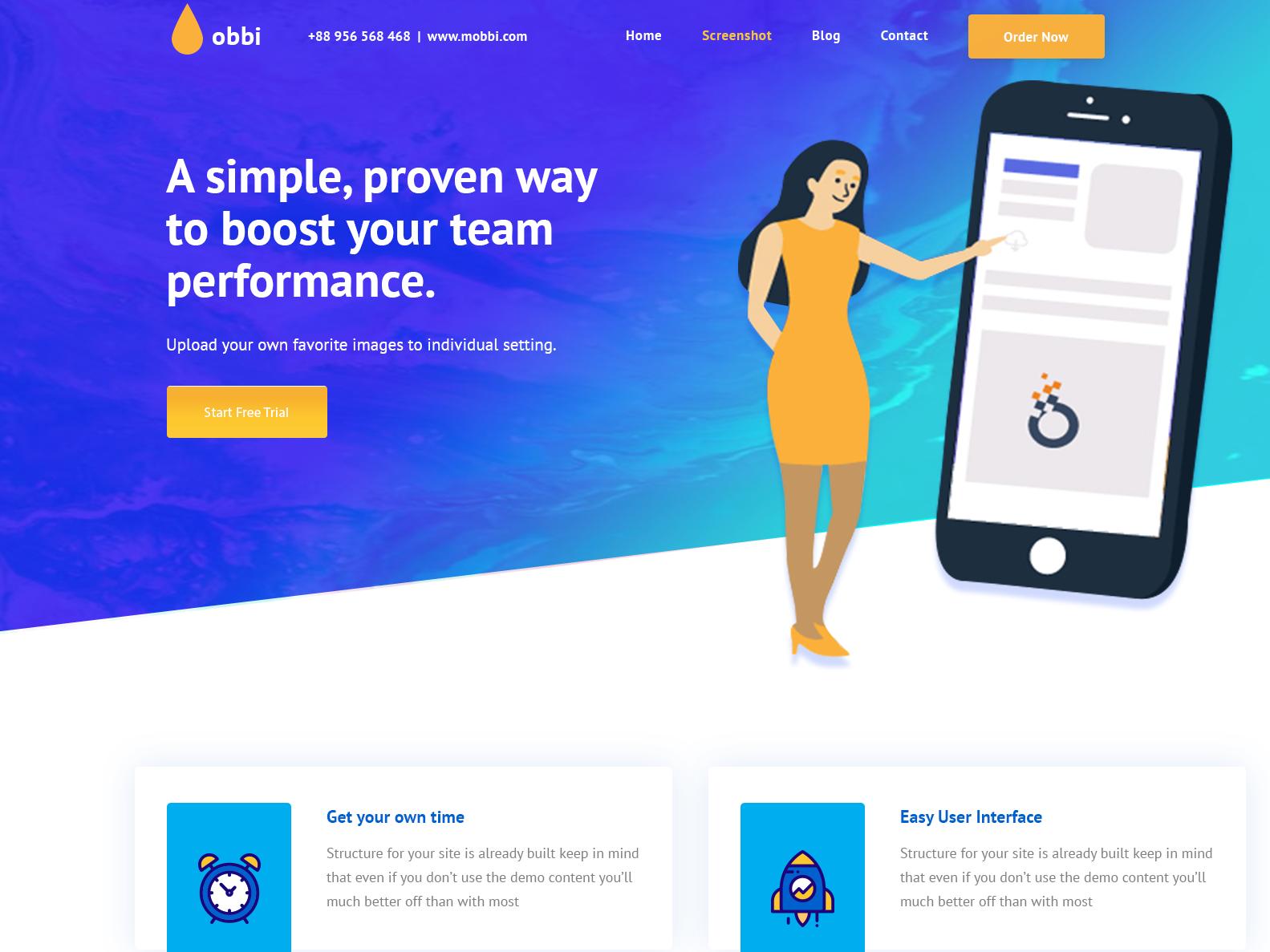 Home page header vector design photoshop illustration