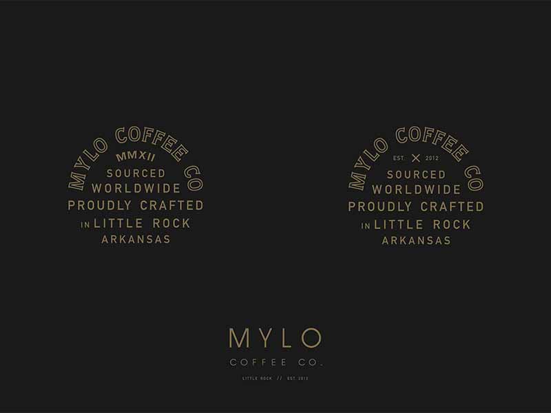 Textile Ideas emblem t-shirt branding coffee typography