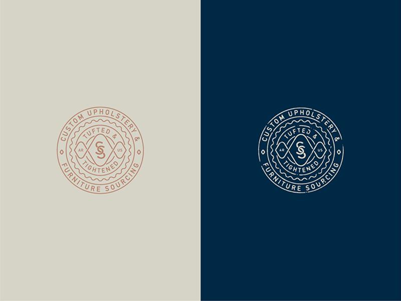 Sit South Monogram Emblem texture typography branding logo monogram