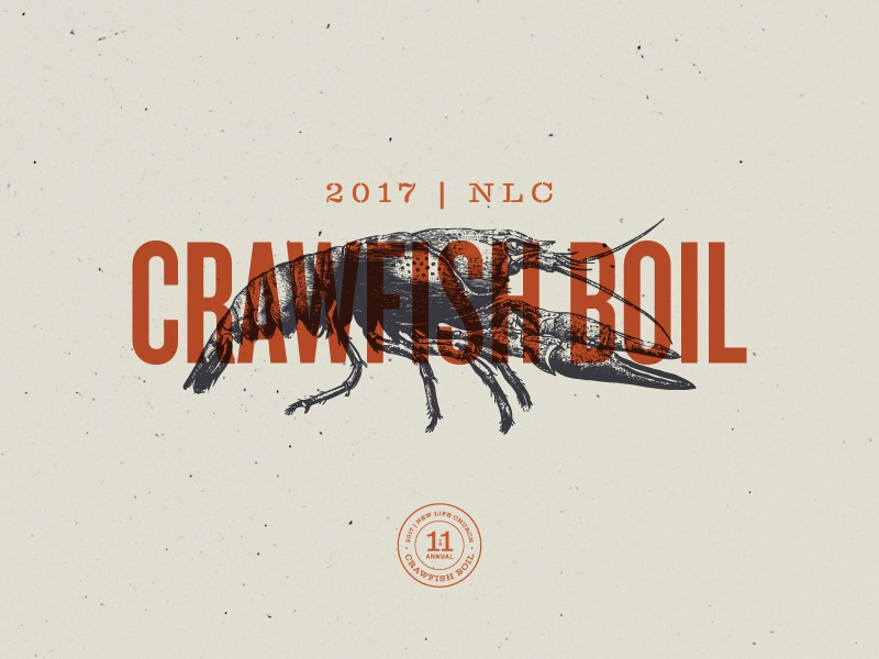Crawfish boil branding process