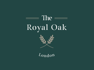 Royal Oak Logo sketchapp typography beer pub identity brand logo