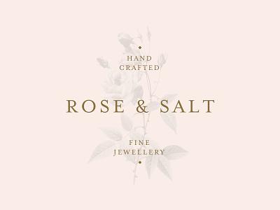 Rose & Salt Logo jewelry jewellery typography logo identity brand