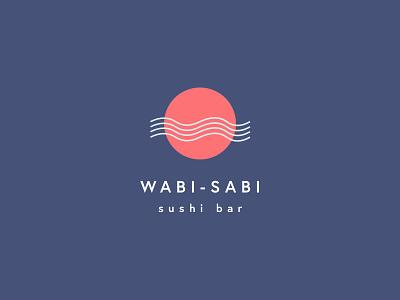 Wabi-Sabi Logo wasabi sushi typography logo identity brand