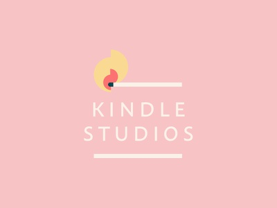 Kindle Studios Logo studio flames match kindle vector illustration typography logo identity brand