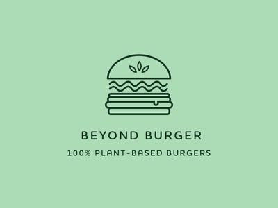 Beyond Burger Logo green plant-based vegan burger vector illustration logo identity brand