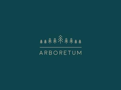 Arboretum Logo nature gardens arboretum typography logo identity brand