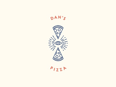 Dan's Pizza Logo za illuminati pizza illustration typography logo identity brand