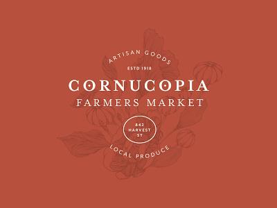 Cornucopia Logo produce artisan markets farmers market typography logo identity brand