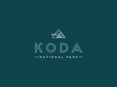 Koda Logo outdoors national park mountains typography logo identity brand