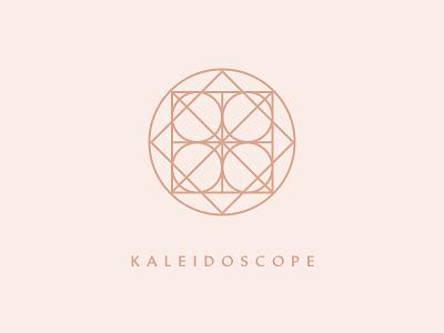 Kaleidoscope Logo shapes geometric kaleidoscope typography logo identity brand