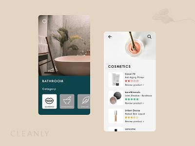 Cleanly App Concept app ui app branding uidesign ui app