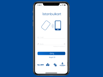 İstanbulkart Mobil App Login Page Redesign