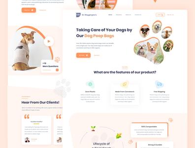 Online Pet Store Landing Page online ui design ui cart features dog web design website online shop store homepage review product web pet pets landing page landing
