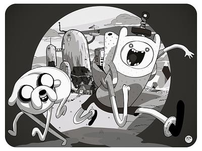 Adventure Time cartoon network cartoon finn and jake adventure time illustraion design flat illustration illustration flat  design flatdesign