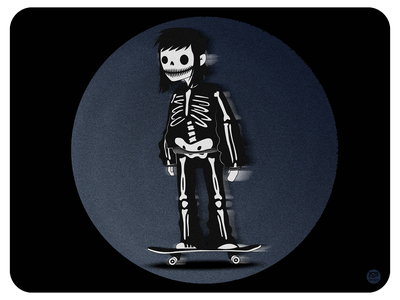 Skate skeleton skull skateboarding skateboard skate illustraion design flat illustration illustration flat  design flatdesign