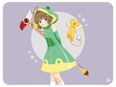 Cardcaptor Sakura kero anime cartoon sakura illustraion design flat illustration illustration flat  design flatdesign