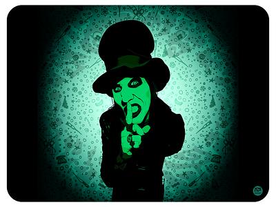 Marilyn Manson portrait vector portrait the spooky kids marilyn manson illustraion design flat illustration illustration flat  design flatdesign
