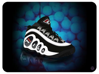 Fila Bubbles 90s fila bubbles fila sneaker illustration sneaker art sneakerhead sneaker kicks shoes shoe illustraion design flat illustration illustration flat  design flatdesign