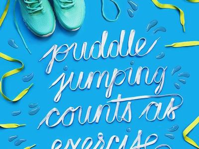 Shoelace Lettering raindrops object typography typography target hand lettering lettering shoelaces shoes