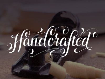 Handcrafted  ligature typography hand lettering flourish handcrafted lettering