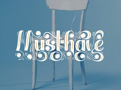 Must-Have ball terminal typography hand lettering lettering
