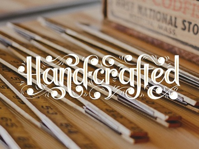 Handrafted display type typography hand lettering lettering ball terminal handcrafted