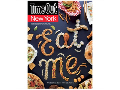 Time Out New York Cover handlettering handcrafted typography food type food food typography magazine cover editorial food lettering