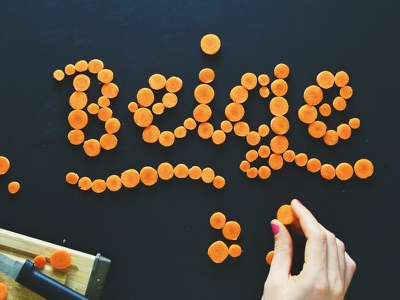 Behind the Scenes 1 handcrafted hand lettering lettering food orange food type food typography food lettering behind the scenes carrots