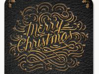 Merry Christmas Gold Foil Card