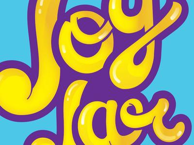 Joy Jar logo identity glossy yellow purple candy