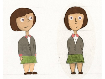 Camilla little girl character illustration illustration