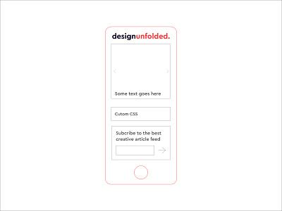 Blog UI grid first shot ux website minimal app icon vector branding hello dribbble ui blog design