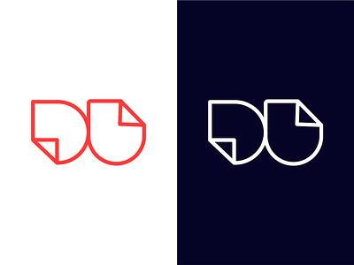 Design Unfolded Logo website app u logo unfold abstract minimal identity branding vector design icon flat desig logo d logo