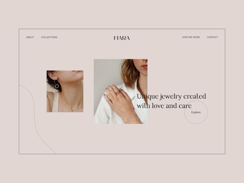Daily UI 003 – Landing Page ux jewelry landing website web design web ui design daily ui challenge daily ui