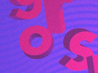Gros Mots noise gradient waves typography 3d