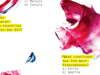 Francophone Trivia francophone trivia layout scans paint