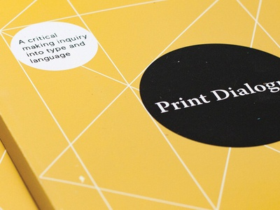 Print Dialogue : Spring 2016 book tschichold geometric theory language typography critical making thesis