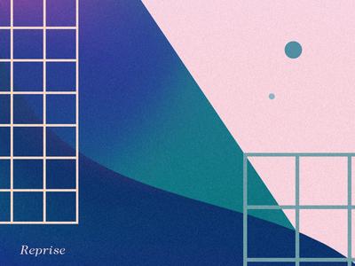 Reprise pastel grid geometric gradient graphic