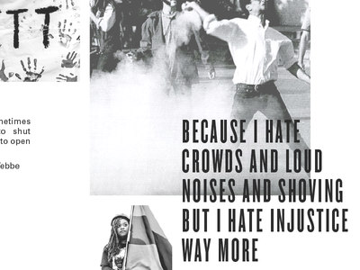 Why Protest? print grayscale resist zine protest