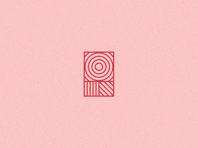 R / Reject identity monostroke geometric modern abstract logo