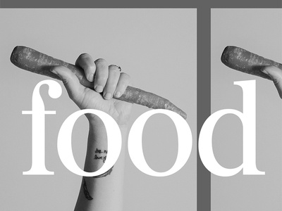 Food Trends: Resistance social food burgess colophon grayscale black and white