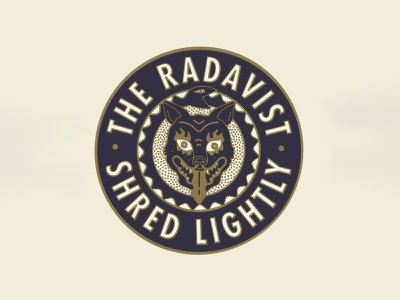 RADAVIST HEAD BADGE cycling logo illustration austin