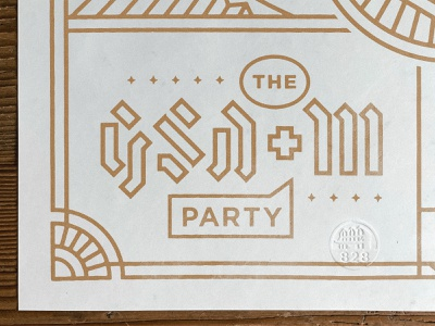 GSDM Wolf Poster Type graphic design poster design typography austin texas austin sxsw poster art
