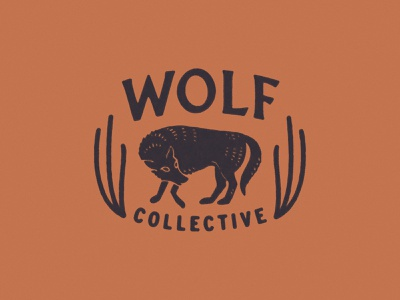 Wolf Collective Branding graphicdesign signage typography logo design branding and identity texas austin logo branding